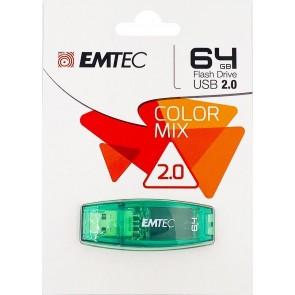 MEMORIA USB EMTEC 2.0 C410 64GB VERDE