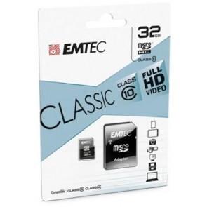TARJETA EMTEC MICROSDHC 32GB CLASS10 CLASSIC+ ADAPT