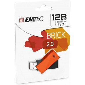MEMORIA USB EMTEC 2.0 C350 128GB NARANJA (Electrodomesticos)
