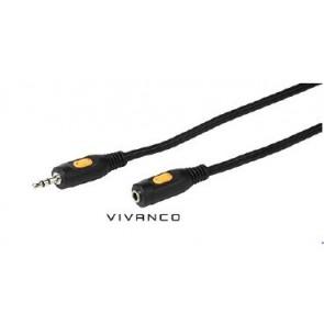 CABLE VIVANCO CONEXION AUDIO 3.5MM(M)-3.5MM(H) 2.5