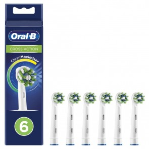 PACK 6 RECAMBIOS DENTALES BRAUN EB50-6 FFS CROSS ACTION (Electrodomesticos)