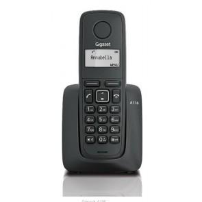 TELEFONO GIGASET DECT A116 NEGRO INALAMBRICO