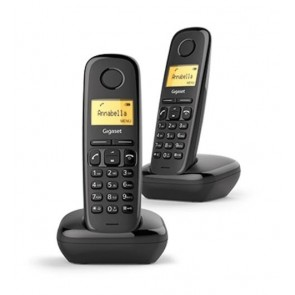 TELEFONO GIGASET A170 DUO NEGRO DECT
