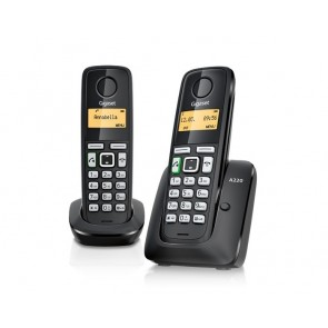 TELEFONO DECT GIGASET A270 DUO NEGRO