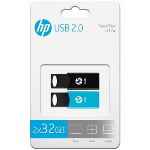 MEMORIA LLAVE USB HP TWINPACK 32GB(HPFD212-32TWIN)