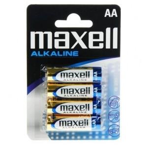 PAQUETE 4 PILAS MAXELL AA MN1500 LR06-B4 SE MXL ALCALINA