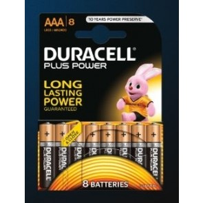 PAQUETE 8 PILAS DURACELL PLUS AAA (LR03) B8