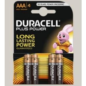 PILA DURACELL AAA LR03 PLUS POWER 4UDS K4
