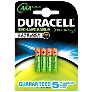 PILA RECARGABLE DURACELL AAA LR03 STAY CHARGE B4