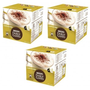 PACK 3 CAJAS DOLCE GUSTO CAPUCCINO 16 CAPSULAS