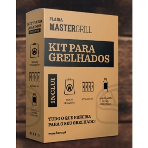 KIT BARBACOA FLAMA 4051FL (CARBON/4 PILAS/GEL)