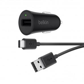 CARGADOR BELKIN PARA COCHE USB-C BOOST+CABLE