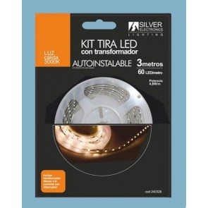 KIT TIRA LED SILVER SANZ 240328 3m 4.8W/m 3000K