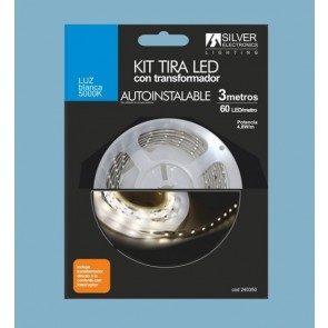 KIT TIRA LED SILVER SANZ 240350 3m 4.8W/m 5000K