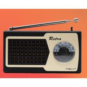 RADIO NEVIR NVR-200 RETRO FM/AM NEGRO