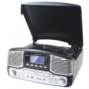 GIRADISCOS NEVIR NVR-812 NEGRO CD/MP3/USB/SD