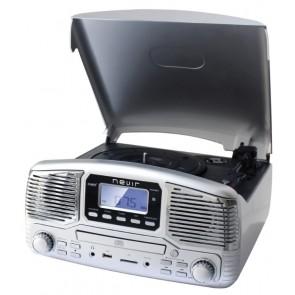 GIRADISCOS NEVIR NVR-812 PLATA CD/MP3/USB/SD