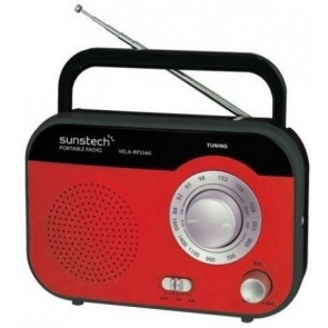 RADIO SUNSTECH RPS-560 ROJO ACDC ANALOGICA