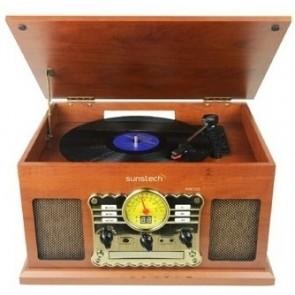 GIRADISCOS SUNSTECH PXRC5CDWD MADERA CD/CASSETE/BT/RADIO