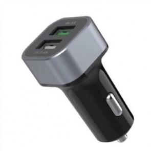 CARGADOR COCHE ELBE CARG301QC DOBLE USB CARGA RAPI
