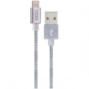 CABLE DCU USB-MFI IPHONE 5/6 SILVER CARC. ALU. 1M (34101205)