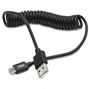 CABLE DCU USB A-MICRO USB NEGRO ESPIRAL 1.5M (30401250)